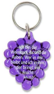"""Schlüsselanhänger """"Weintraube"""" - lila"""