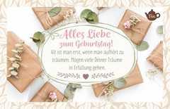 Tee-Postkarte - Alles Liebe zum Geburtstag!