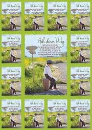 Aufkleber-Gruß-Karten: Geh deinen Weg, 12 Stück