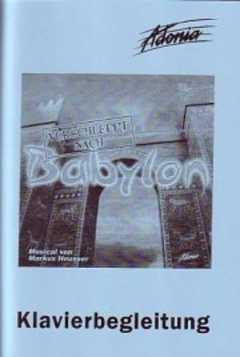 Klavierpartitur: Verschleppt nach Babylon