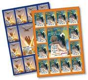 Spar-Paket: 25 Aufkleber-Grußkarten
