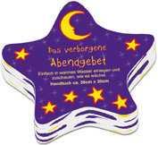 Handtuch Stern mit Abendgebet