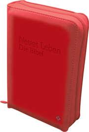 Neues Leben. Die Bibel. Taschenausgabe, ital. Kunstleder rosso, mit Reißverschl