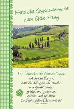 Faltkarte Ich Wünsche Dir Gottes Segen Geburtstag Doro Zachmann