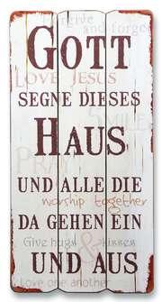 """Vintage-Wandbild """"Haussegen"""""""