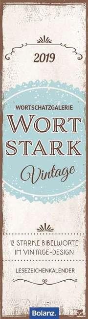 Wortstark 2019 - Lesezeichenkalender