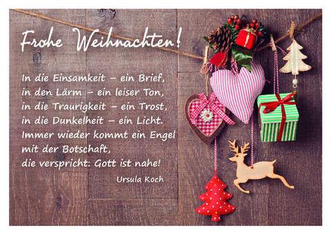 Frohe Weihnachten Brief.Frohe Weihnachten Postkarte